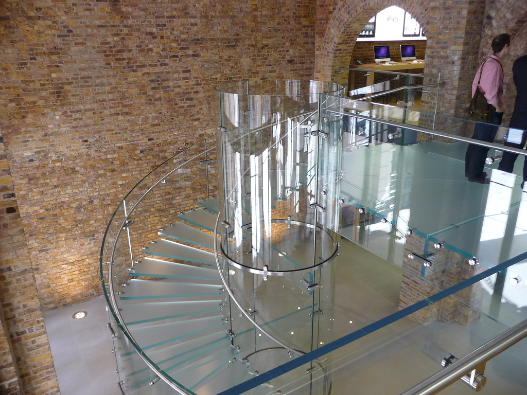 ... Iconic Glass Spiral Staircase At Apple Flagship Store In Covent Garden  | By Textlad