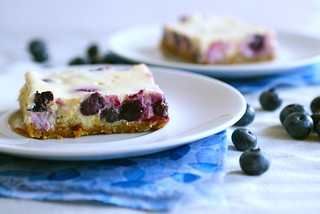 lemon blueberry cheesecake bars | by annieseats