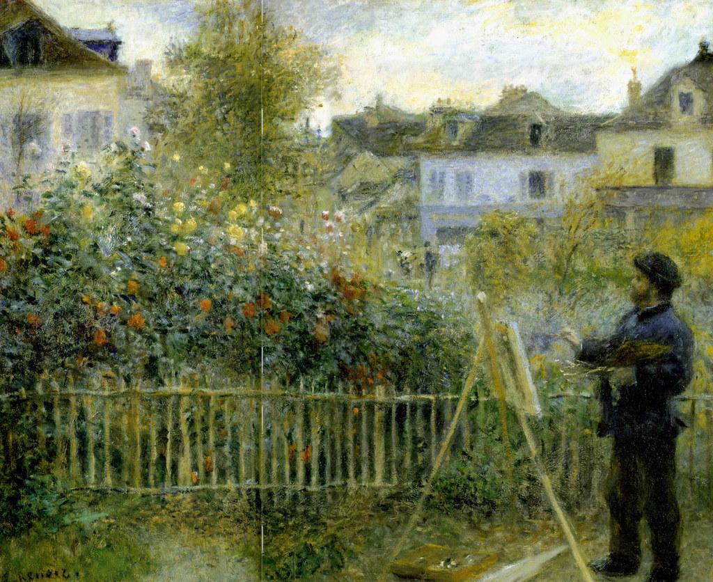 Auguste renoir monet peignant dans son jardin argenteui for Bruler dans son jardin