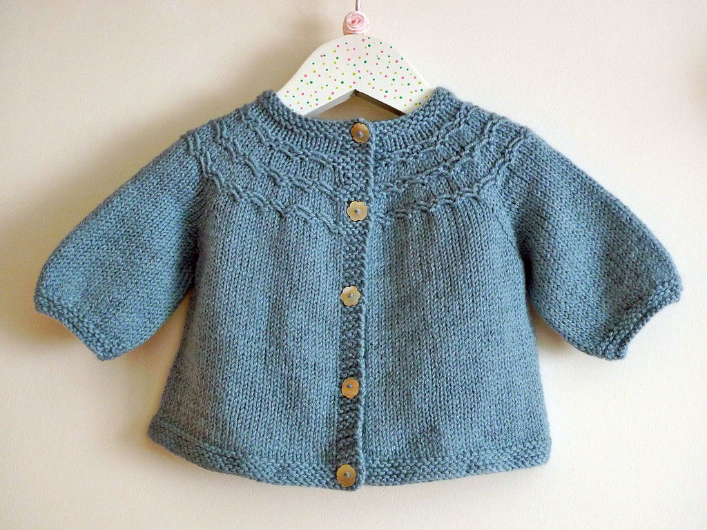 Knitting Pattern For Seamless Sweater : smocked baby cardi Pattern: Seamless Yoked Baby Sweater ...