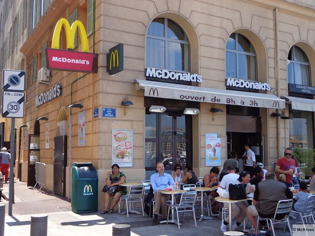 Mcdonald 39 s marseille 43 quai des belges france - Apple store marseille terrasse du port ...