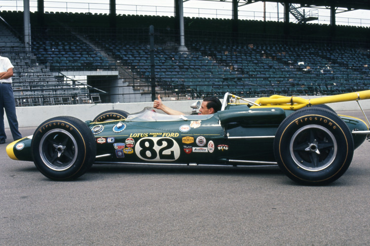 jim clark at the indianapolis 500 may 1965 description flickr