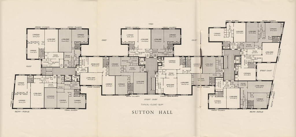 Sutton Hall 109-14 Ascan Ave Forest Hills NY Blueprint Typ