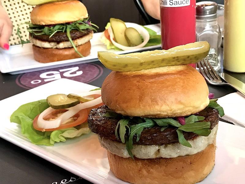 Luscious double patty on the XOXO Burger