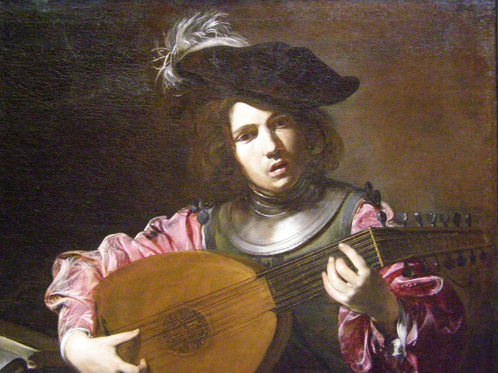 ... Valentin De Boulogne, The Lute Player, C 1626, Detail 1 | By DeBeer