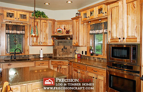 Mountain Style Kitchen | Interior | PrecisionCraft Homes | by PrecisionCraft Log & Timber Homes