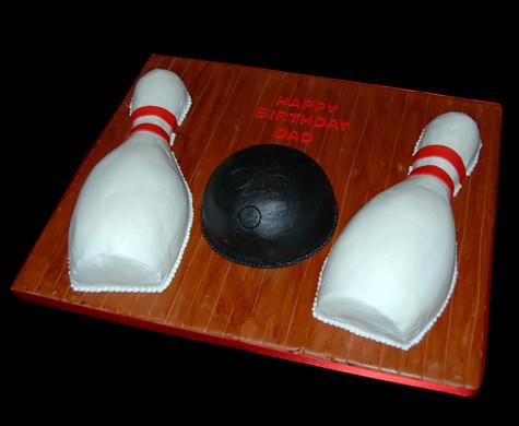 Bowling Ball Birthday Cake