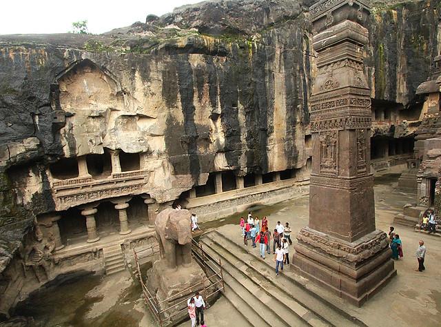 Kailash temple ellora flickr photo sharing for Ajanta cuisine of india