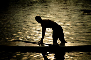 Silhouette, Standup Paddleboarding | by The.Rohit