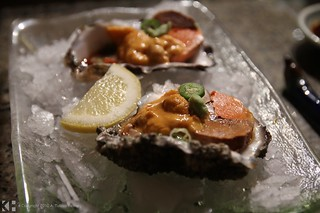 Oysters with uni and ankimo | by T bias