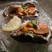 Oysters with uni and ankimo
