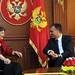 Helen Clark with President Filip Vijanovic, Montenegro