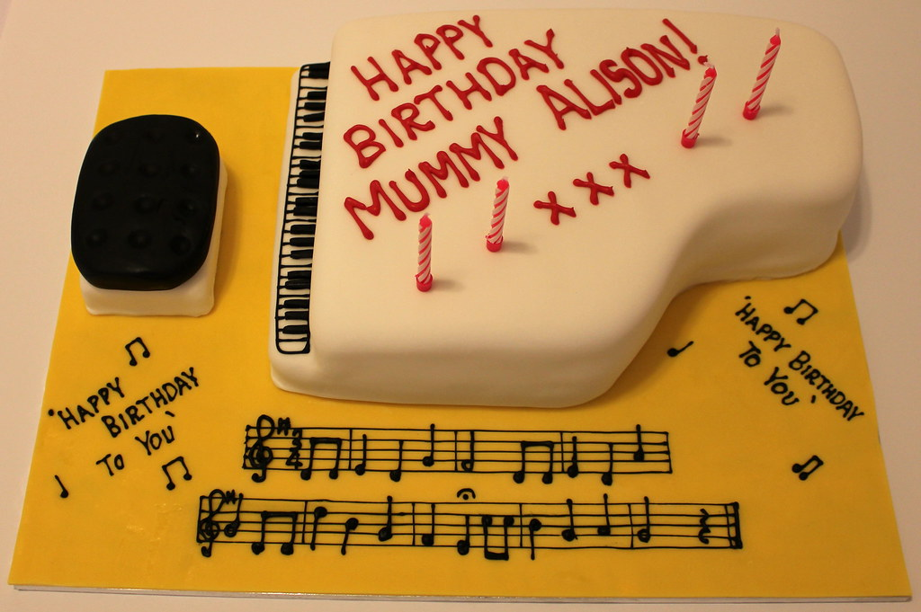 Grand Piano Birthday Cake Pictures