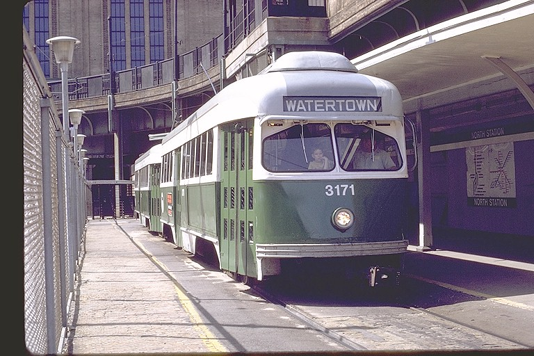 Mbta Wartime Pcc Car 3171 At North Station Canal St Flickr