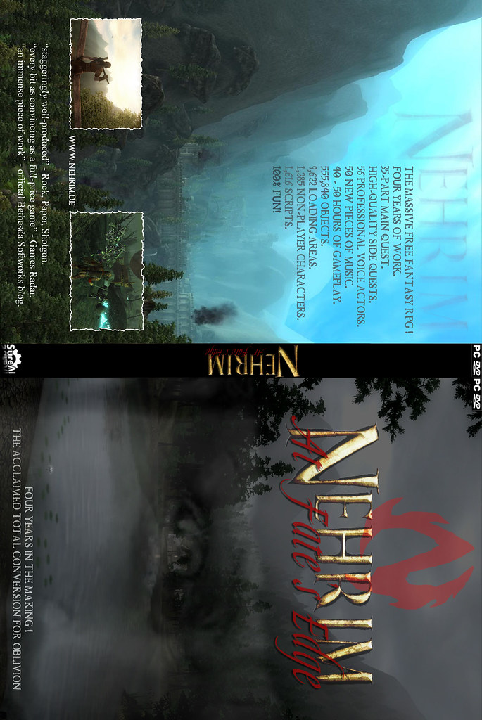 Nehrim Printable DVD Cover English Unofficial Flickr
