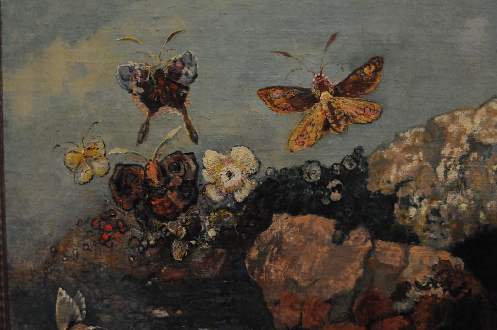 Butterflies - Odilon Redon 1910 - MoMA, New York | Oil on ca… | Flickr