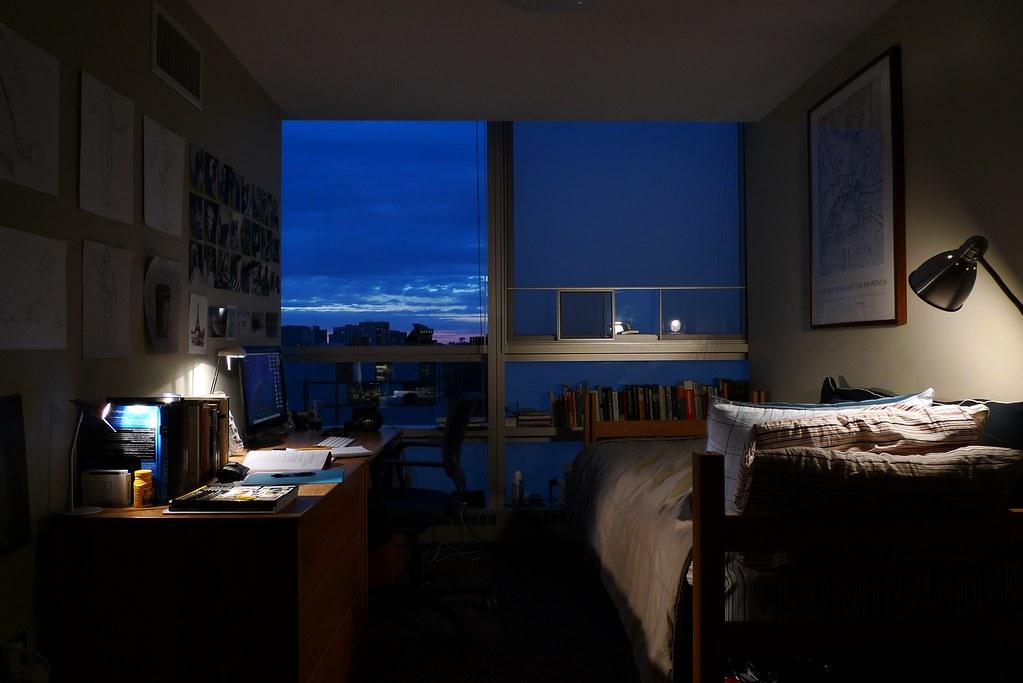 west village h dorm room