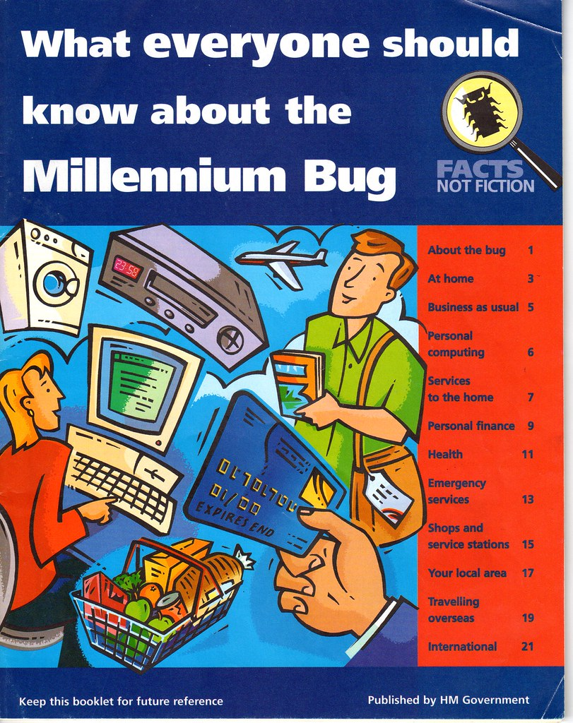 the problem of the millennium bug Y2k is an abbreviation for 'year 2000' as that year approached, many feared that computer programs storing year values as two-digit figures (such as 99) would cause problems.