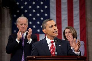 Barack Obama, during the 2010 State Of The Union address | by BlatantWorld.com