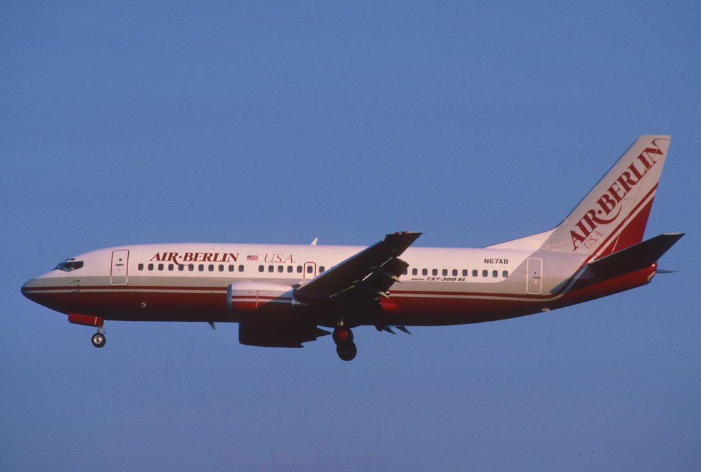 Air Berlin USA Boeing 737-3Y0; N67AB, July 1986/ BGT | Flickr