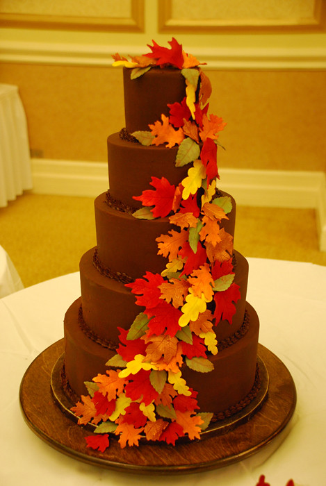 Ganache Covered Wedding Cake