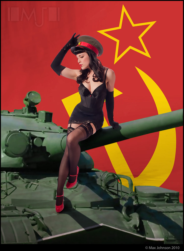 Red Scare Soviet Pinup  In Soviet Russia, Pin-Up Made Of -8090