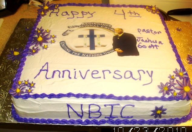 Church Anniversary Cake Images : Church Anniversary cake yellow cake white icing with ...