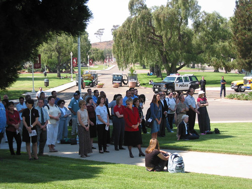 Crowd of Students, Faculty and Staff at September 11th Memorial | by California State University Channel Islands