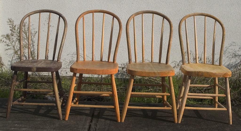 bow back windsor cottage or kitchen rustic or primitive style chair c1900 1930 - Primitive Kitchen Tables
