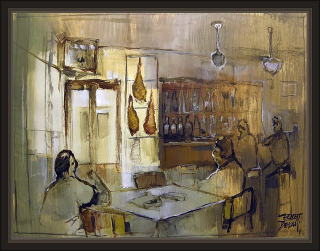 Albarracin Teruel Restaurante Bar Cafe Cafeterias Pintura