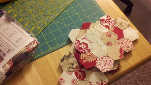 hexagons for christmas table runner | by Jenniffier