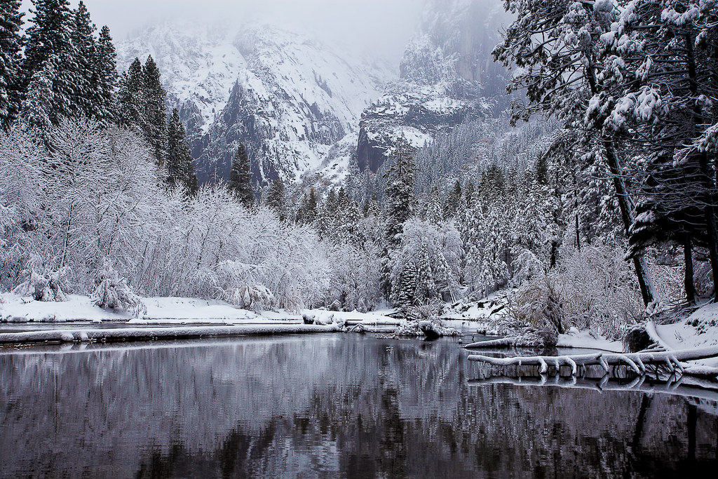 Wintry Cathedral Beach Yosemite National Park There S A