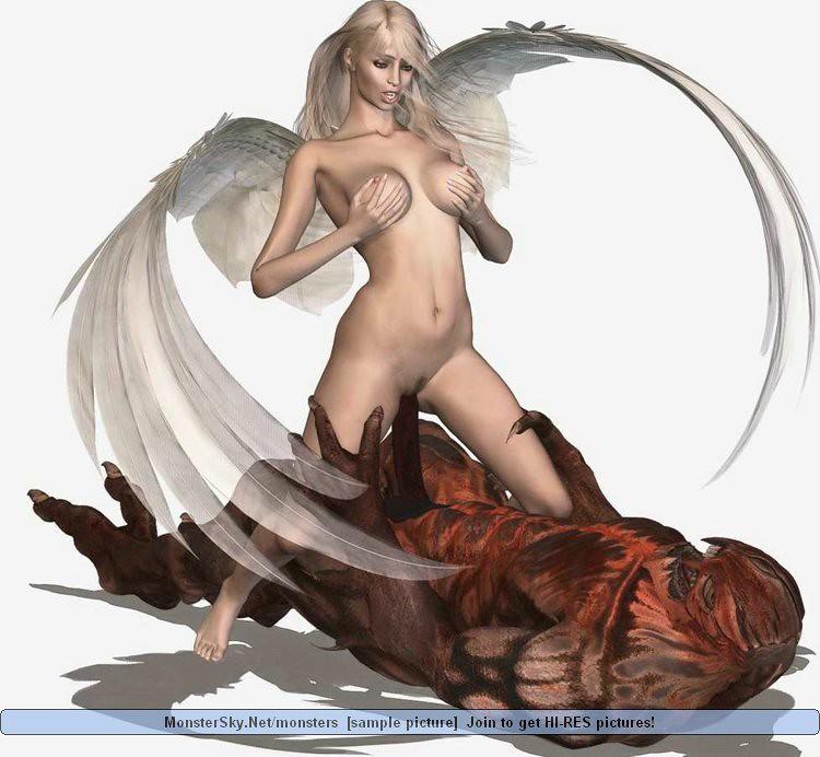 Порно с белыми крыльями