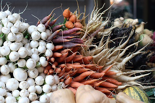 market carrots and turnips | by David Lebovitz
