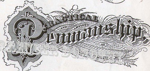 Lettering Victorian Calligraphy Lessons 1886 This
