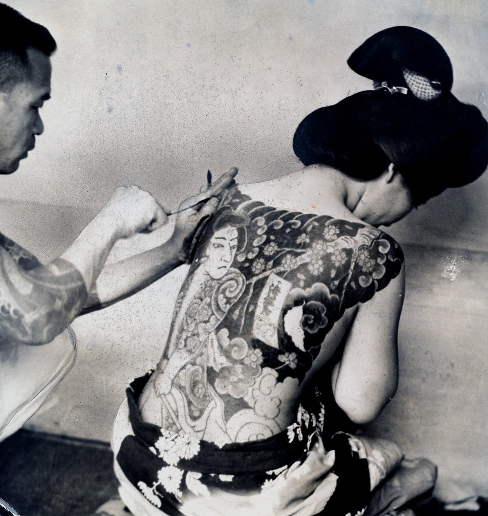 Irezumi 1937 this is a press photo from 1937 that has for Japanese body tattoo