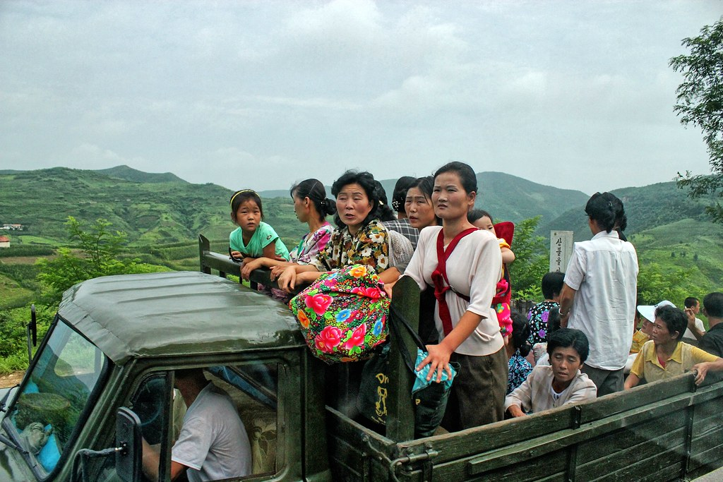 Servi-cha Transport in Rural North Korea south of the Koso ...