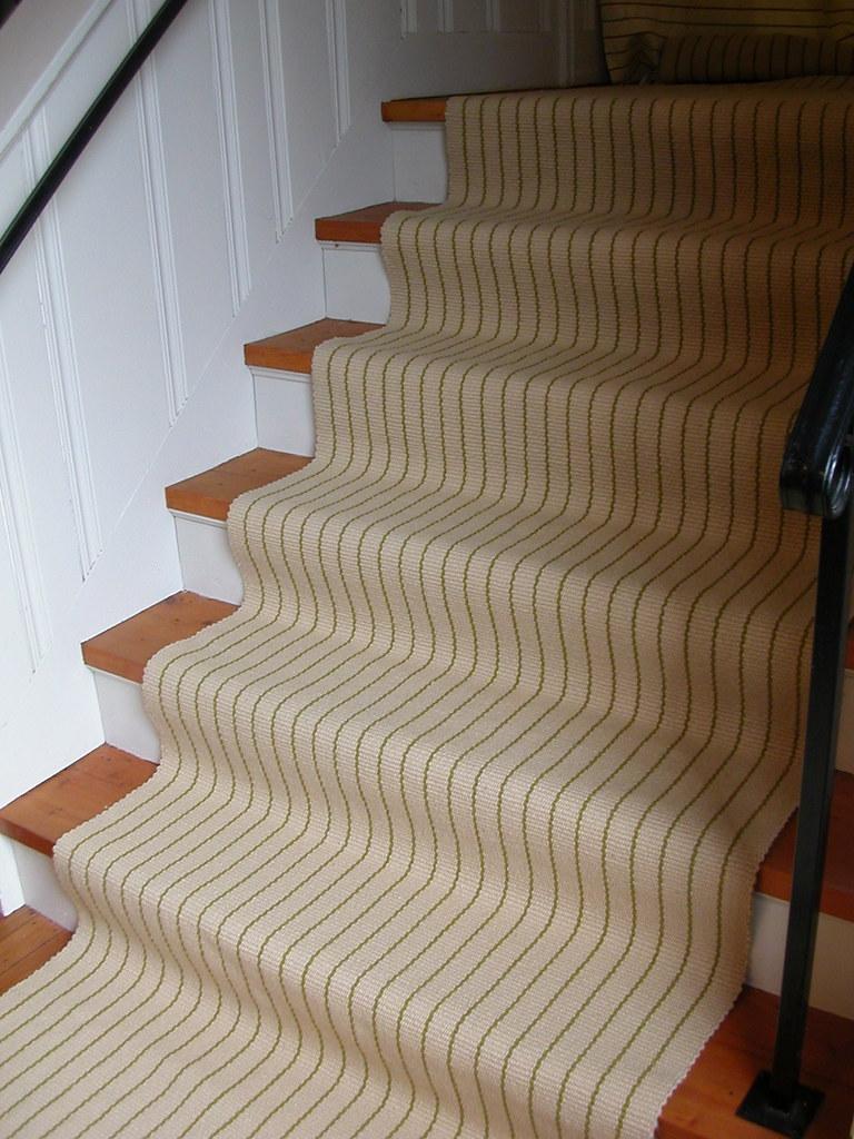 ... Custome Warp Faced Wool Stair Runner   By Aclhandweaver