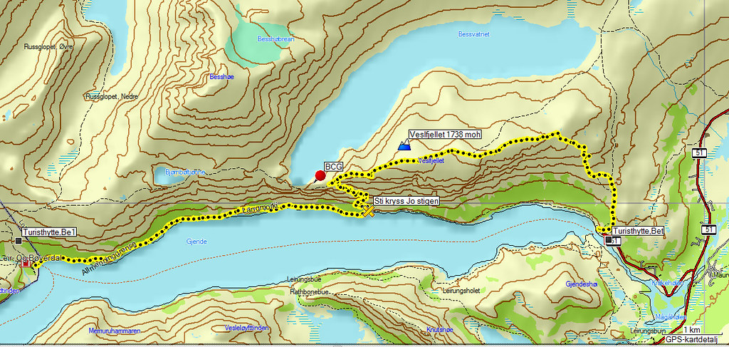 besseggen kart Kart Jo Stigen Besseggen | Kjell Arne Berntsen | Flickr besseggen kart