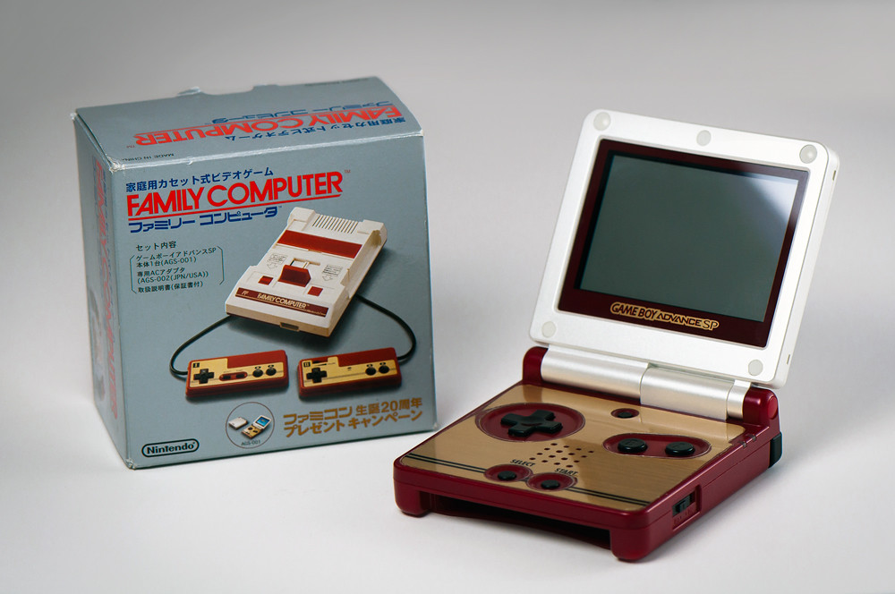 20th anniversary gameboy advance sp famicom found this o flickr