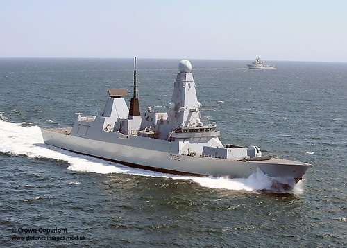 Type 45 Destroyer HMS Daring in the English Channel | by Defence Images