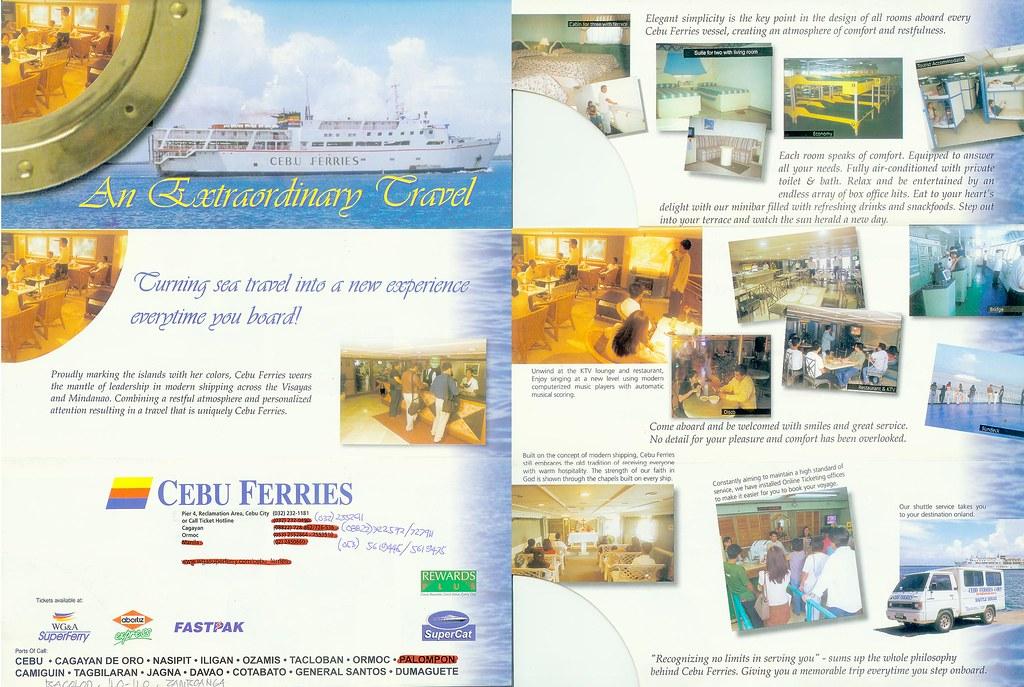 Cebu Ferries Brochure  Promotional Brochure All Pages Of   Flickr