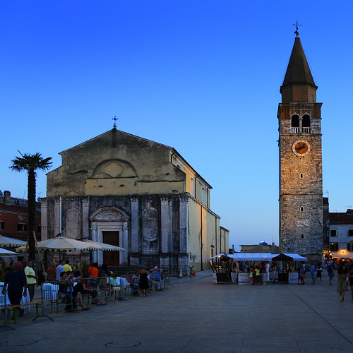 Croatia - Istria - Umag - Town Square at dusk sq | by Darrell Godliman