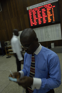 On the floor of the Ghana Stock Exchange in Accra | by World Bank Photo Collection