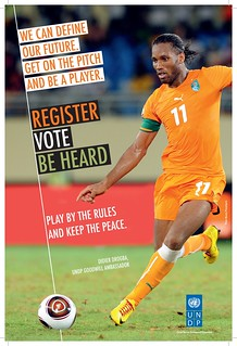 UNDP Goodwill Ambassador Didier Drogba calls for fair elections | by United Nations Development Programme