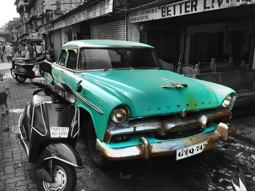 '56  Plymouth in Chor Bazaar | by gtconboy
