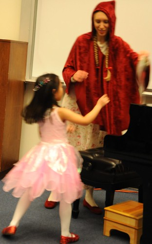 The Piano Recital, A pink fairy and Little Red Riding Hood ...