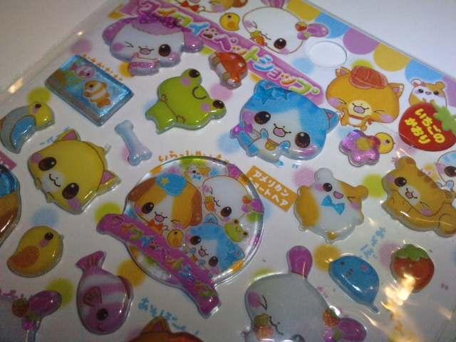 Crux thick stickers animal by candy kuma
