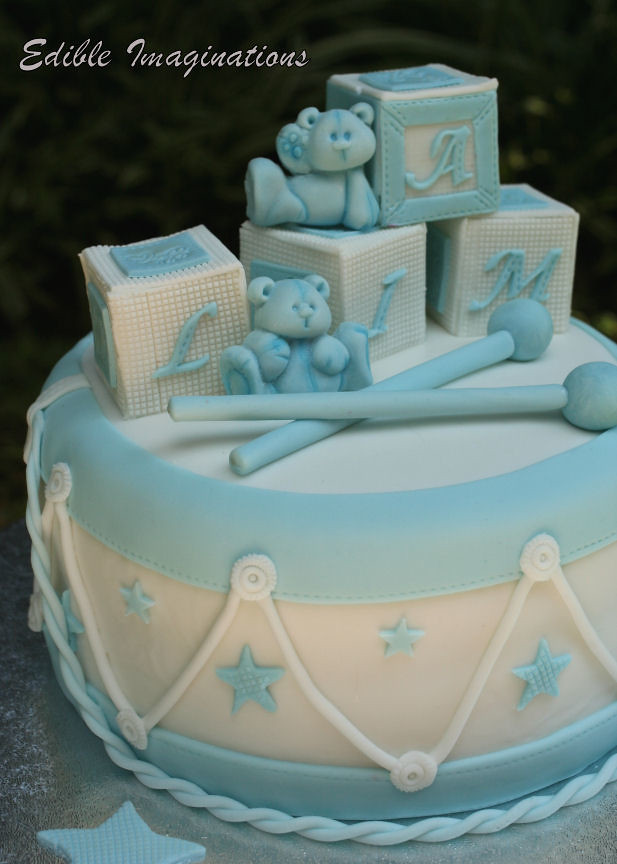drummer boy christening cake original by karen taylor