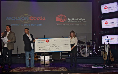 UW Gala Cheque Presentation | by Molson Coors Canada